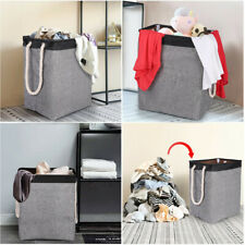 Laundry Basket Rolling Slim On Wheels Foldable Waterproof Washing Bin Hamper US