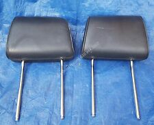 BMW E30 3 Series M3 OEM BLACK Leather Front or Rear Seat Headrest Pair -Set of 2