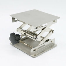 4X4'' Steel Lab-Lift Lifting Platforms Lab Jack Scissor Stand Rack 100X100X150mm