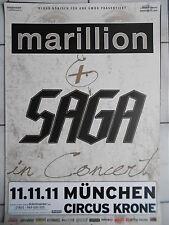 SAGA-MARILLION 2011 MÜNCHEN  orig.Concert-Konzert-Tour-Poster-Plakat DIN A 1
