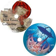 Jules Verne Sci-Fi Audio Book Collection on 2 MP3 DVDs Mysterious Days FREE SHIP