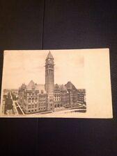 Postcard Used 1906 City Hall Toronto Canada Vintage M48