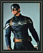 CHRIS EVANS AVENGERS CAPTAIN AMERICA  A4 SIGNED AUTOGRAPHED PHOTO POSTER