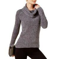 INC NEW Women's Long Sleeve Metallic Cowl Neck Sweater Top TEDO