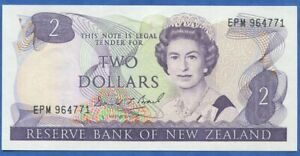 NEW ZEALAND 2 DOLLARS 1989-1992 ELIZABETH II PICK 170 #3717#