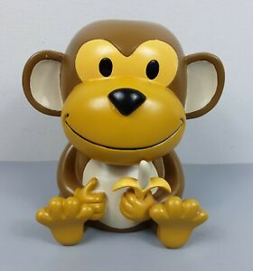 Monkey Eating Banana Toilet Brush Holder Decorative Figure Cute Sturdy FREE SHIP