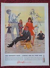 1966 Print Ad Smirnoff Vodka ~ Smirnoff Sour Lemons and All that JAZZ Beach Band