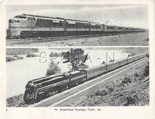 Original Vintage Large WWII 40s Railroad Lithograph- Streamlined Passenger Train