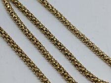 "14 carat Yellow Gold 16"" chain necklace unusual popcorn chain box chain"