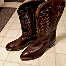 Brown Leather Ranch Hand Cowboy Boots Size 11 EE Slightly used
