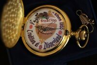 Disneyland Carnation Ice Cream Parlor Pocket Watch 1955 1997 Ltd Ed Walt Disney