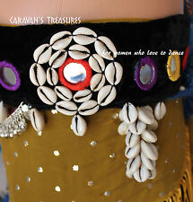 """Mirrored Belt Gypsy Tribal Fusion Belly Dance Size Large 38"""" , ATS  Gothic"""