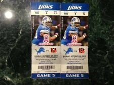 2013 DETROIT LIONS VS CINCINNATI BENGALS TICKET STUB 10/20/13 CALVIN JOHNSON