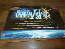 MANGA - Plan média / Press kit !!! GUNDAM F91 - YOSHIYUKI TOMINO !!!