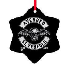 AVENGED SEVENFOLD A7X Logo HAIL to the KING Snow Flake Shape Christmas Ornament