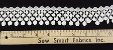 "Venise Lace Trim: Hanging Circles: Cream 1.75"" W, 2 yd. min., CTO"