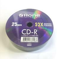 25 Pack Aone Branded Logo CDR CD-R Blank Discs 700mb 80mins 52x