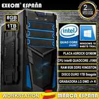 ORDENADOR PC INTEL QUAD CORE 9,6GHz 8GB RAM 1TB HD HDMI USB3.0 - MARCA ESPAÑA