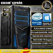 ORDENADOR PC INTEL QUAD CORE 9,6GHz 8GB RAM 1TB HD HDMI USB3.0 - MARCA ESPAÑA