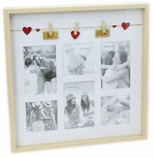 Clothes Line Wooden Box Style Display With Pegs Multi Photo Frame ~ Best Friends