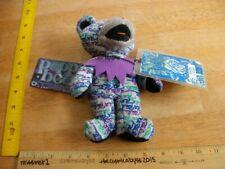 Grateful Dead Bean Bear 1990s Liquid Blue Production NWT Poppa Bear LE 7