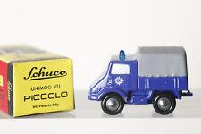DICKIE SCHUCO PICCOLO 1:90 05271 Unimog 401 de coloris bleu,emballage d'origine