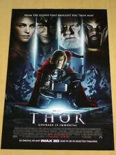 THOR - Original DS Movie Poster 1sheet - D/S 27x40 INTL - MARVEL Chris Hemsworth