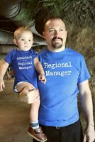 Father Son Matching Shirts | Regional Manager Assistant to the Regional Manager