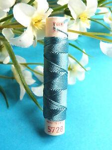 93B / Superb Coil Old Pure Thread Silk Drawstring Phoenix Blue Steel N° 5728