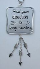 r Find your direction & keep moving FOLLOW YOUR ARROW Car charm mirror ornament