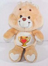 Vintage Kenner Care Bears Plush Champ Bear Heart Trophy Stuffed Animal