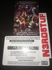 World of Warcraft 1 ONE YEAR Game Time Subscription Employee Holiday Gift -US/NA
