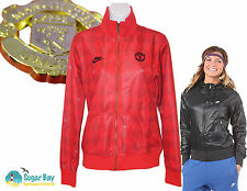 NIKE Womens Manchester United  Football Supporters Jacket Red M  10 12 AUTHENTIC