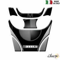 PARASERBATOIO ADESIVO RESINATO PROTEZIONE 3D ARGENTO PER BMW R 1200 RT 2005-201