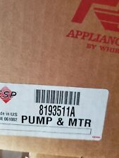 8193511A Dishwasher Pump and Motor