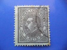 PORTUGAL STAMP - 1880/81 KING LUIS I (NEW DRAW / NOVO DESENHO) - 5 REIS BLACK