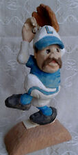 vintage hand carved wooden Baseball Pitcher Award Winning Canadian Carver