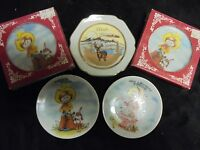 """Set Of 5 Assorted Styles Decorative Collectable Mini Plates 3.5"""""""