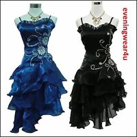 Cherlone Satin Prom Ball Lace Party Cocktail Bridesmaid Formal Evening Dress