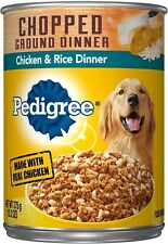 PEDIGREE Traditional Ground Dinner With Chicken and Rice Canned Dog Food 13.2...