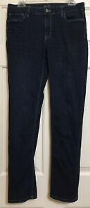 White House Black Market size 8R slim distressed dark wash jeans women's