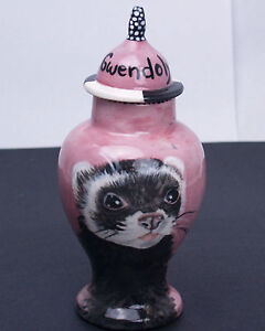 Custom X SMALL Pet urn cats ferret weazel cremation BIRD ashes sml pet portrait