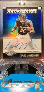 2019 DAVID MONTGOMERY ROOKIE ON CARD AUTO OPTIC ROOKIE OF THE YEAR. BEARS!