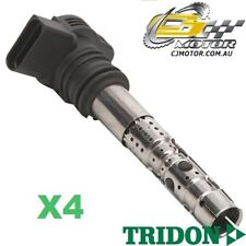 TRIDON IGNITION COIL x4 FOR Audi  A4 02/02-03/05, 4, 1.8L BEX