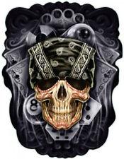 Aufkleber Bandana Skull Totenkopf Airbrush Sticker Grausam Blut Würfel 8 Ball