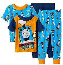 f390ac6b9e Thomas   Friends Toddler Boys 4 Piece Snug Fit Cotton Pajama Set NWT 2T Blue
