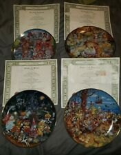 Four Franklin Mint Collector Plates by Bill Bell