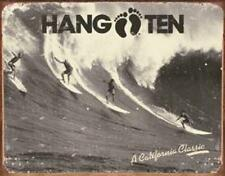 Hang Ten California Classic Surfing Vintage Retro Tin Metal Sign 13 x 16in