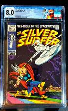 SILVER SURFER #4  CGC 8.0   2/69  THOR VS SURFER