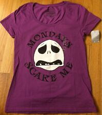 Disney - Jack Nightmare Tee Shirt for women - Mondays Scare Me - Size Med - NEW